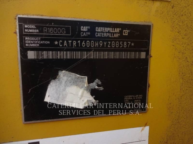 CATERPILLAR CHARGEUSE POUR MINES SOUTERRAINES R1600G equipment  photo 7