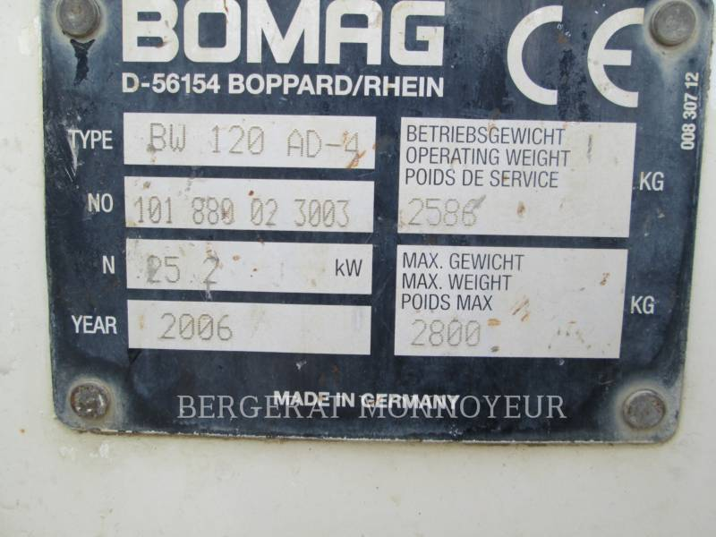 BOMAG COMPACTORS BW120AD4 equipment  photo 8