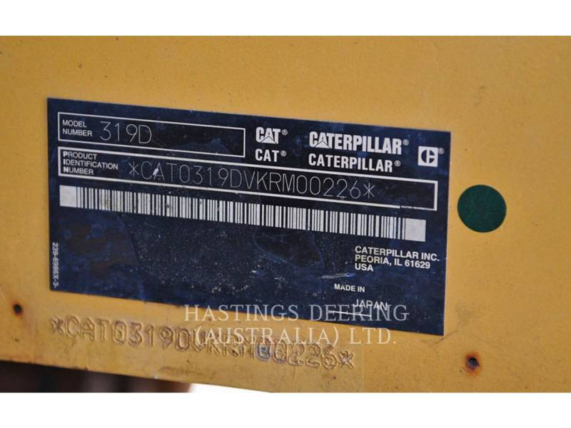 CATERPILLAR ESCAVATORI CINGOLATI 319DL equipment  photo 8