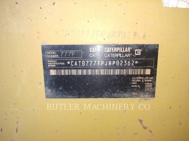 CATERPILLAR TOMBEREAUX DE CHANTIER 777F equipment  photo 8