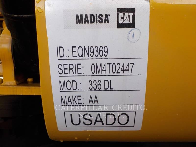 CATERPILLAR TRACK EXCAVATORS 336DL equipment  photo 19