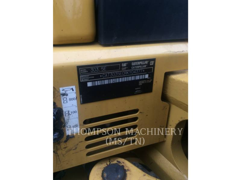 CATERPILLAR TRACK EXCAVATORS 303.5E equipment  photo 5