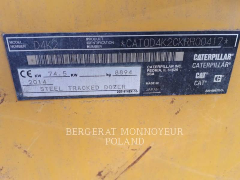 CATERPILLAR TRACTORES DE CADENAS D4K2LGP equipment  photo 5