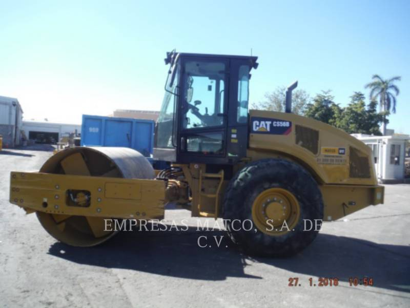 CATERPILLAR COMPATTATORE A SINGOLO TAMBURO VIBRANTE LISCIO CS 56 B equipment  photo 3
