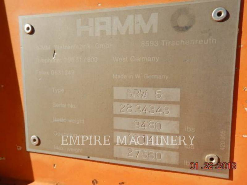 HAMM USA ALTRO ROLLER equipment  photo 6