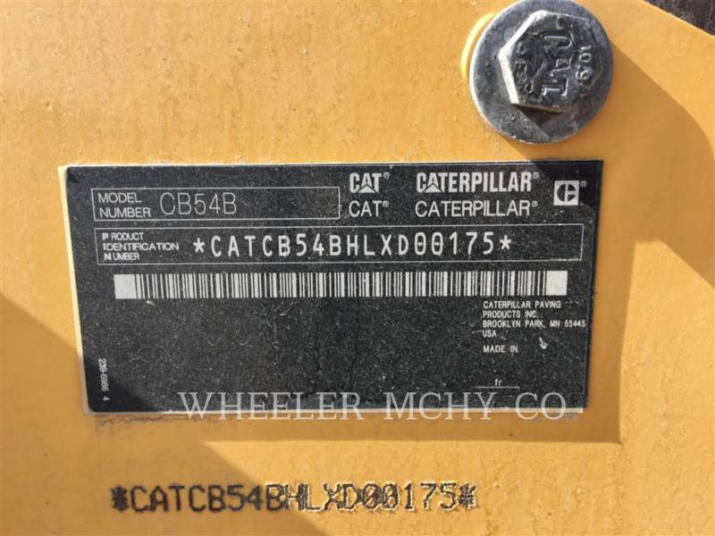CATERPILLAR TANDEMOWY WALEC WIBRACYJNY DO ASFALTU (STAL-STAL) CB54B AMAP equipment  photo 8