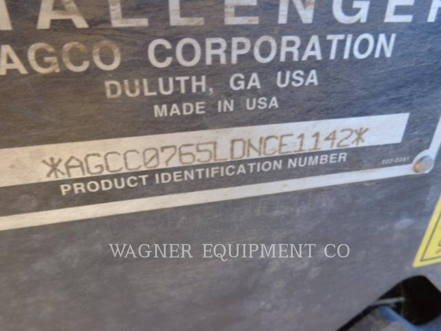Detail photo of 2013 AGCO MT765D-UW from Construction Equipment Guide