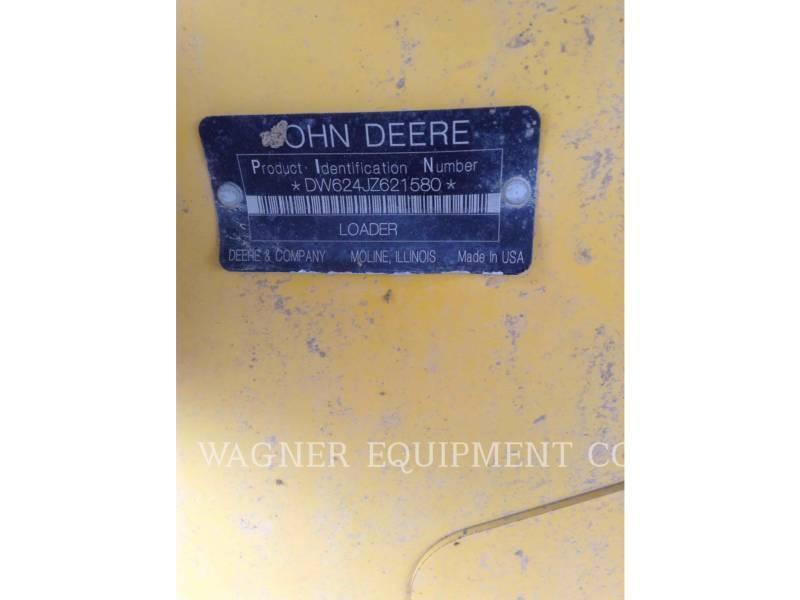 JOHN DEERE WHEEL LOADERS/INTEGRATED TOOLCARRIERS 624J equipment  photo 12