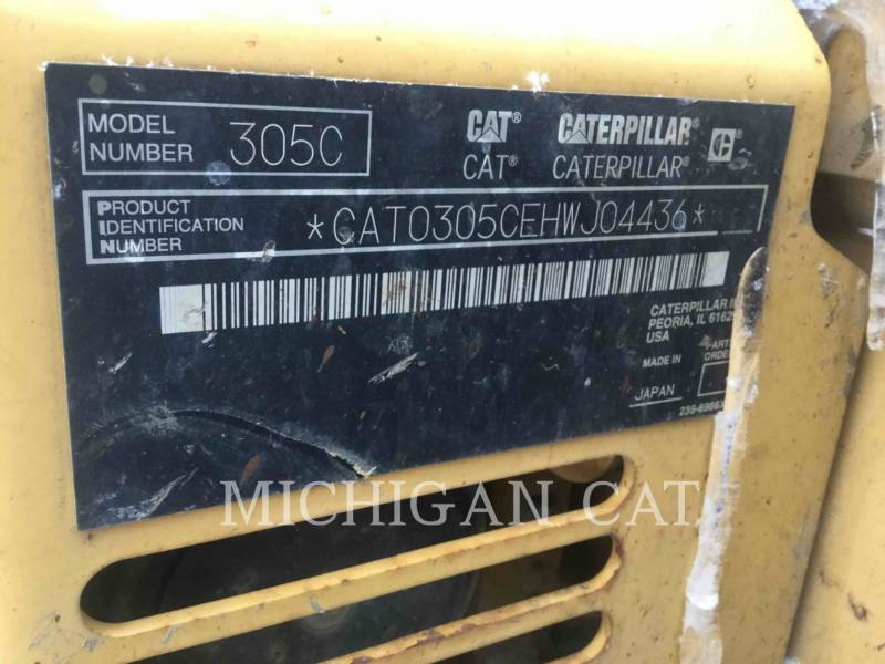 CATERPILLAR TRACK EXCAVATORS 305CCR AQ equipment  photo 17