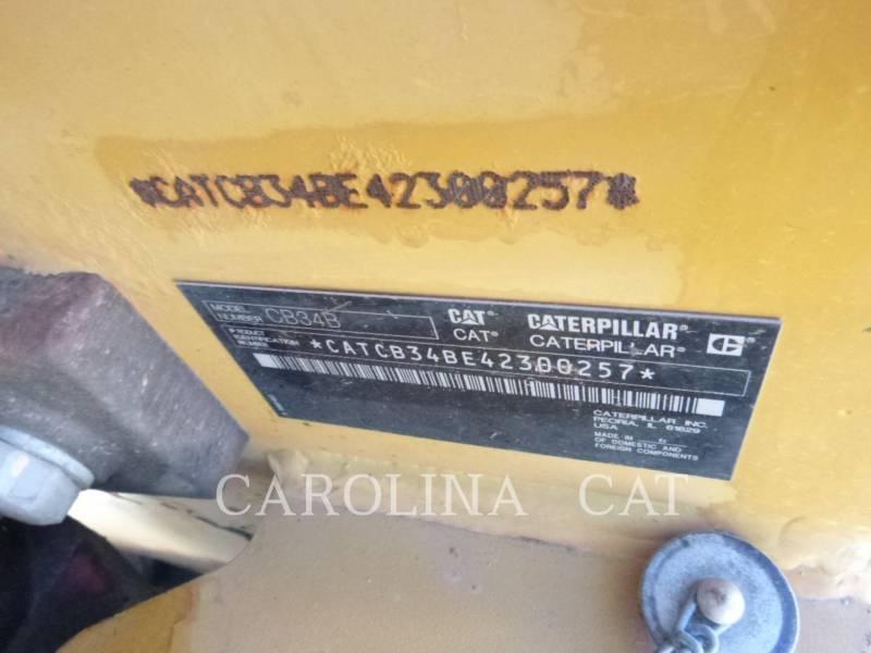 CATERPILLAR COMPACTEURS TANDEMS VIBRANTS CB34B equipment  photo 8