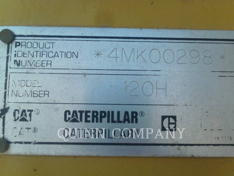 CATERPILLAR MOTORGRADER 120HNA equipment  photo 12