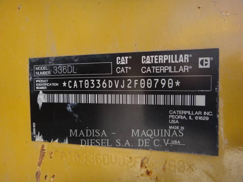 CATERPILLAR PELLES SUR CHAINES 336D L  equipment  photo 5