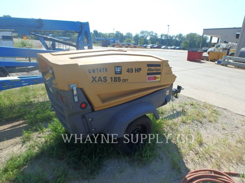 ATLAS-COPCO COMPRESSEUR A AIR 185CFM equipment  photo 2