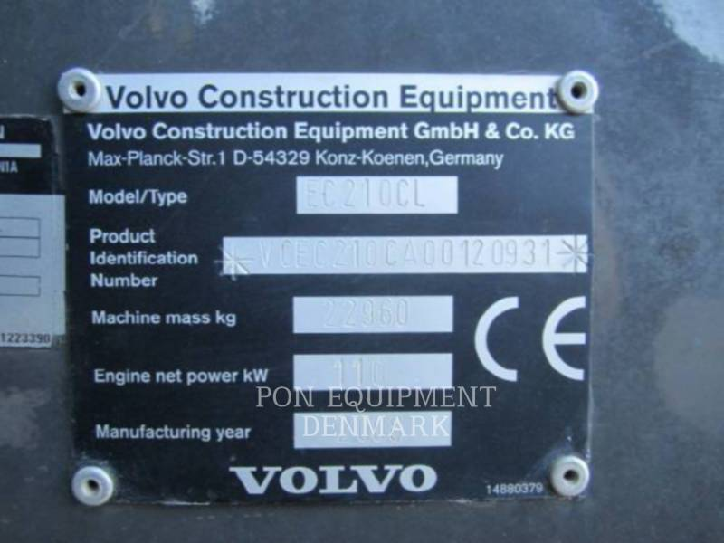 VOLVO CONSTRUCTION EQUIPMENT PELLES SUR CHAINES EC210CL equipment  photo 1
