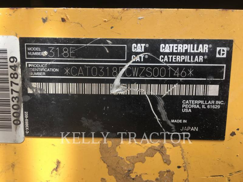 CATERPILLAR EXCAVADORAS DE CADENAS 318EL equipment  photo 19