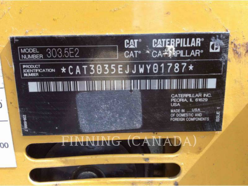 CATERPILLAR ESCAVATORI CINGOLATI 303.5E2CR equipment  photo 6