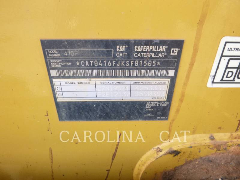 CATERPILLAR CHARGEUSES-PELLETEUSES 416F ST equipment  photo 8