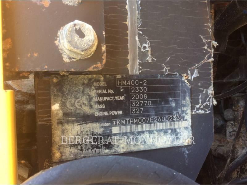 KOMATSU ARTICULATED TRUCKS HM 400 - 2 equipment  photo 14
