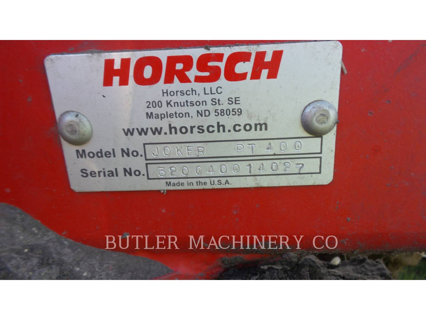 Detail photo of 2014 Horsch Anderson JKR PT400 from Construction Equipment Guide