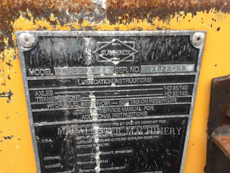 BLAW KNOX / INGERSOLL-RAND ASPHALT PAVERS PF 5510 equipment  photo 5
