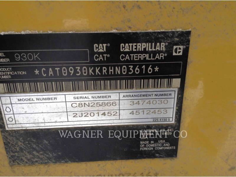 CATERPILLAR RADLADER/INDUSTRIE-RADLADER 930K equipment  photo 9