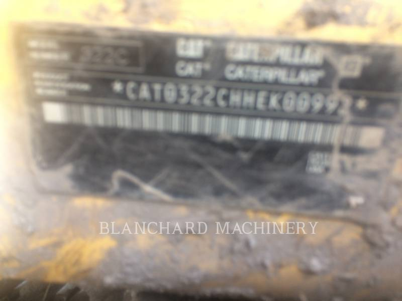 CATERPILLAR TRACK EXCAVATORS 322CL equipment  photo 9