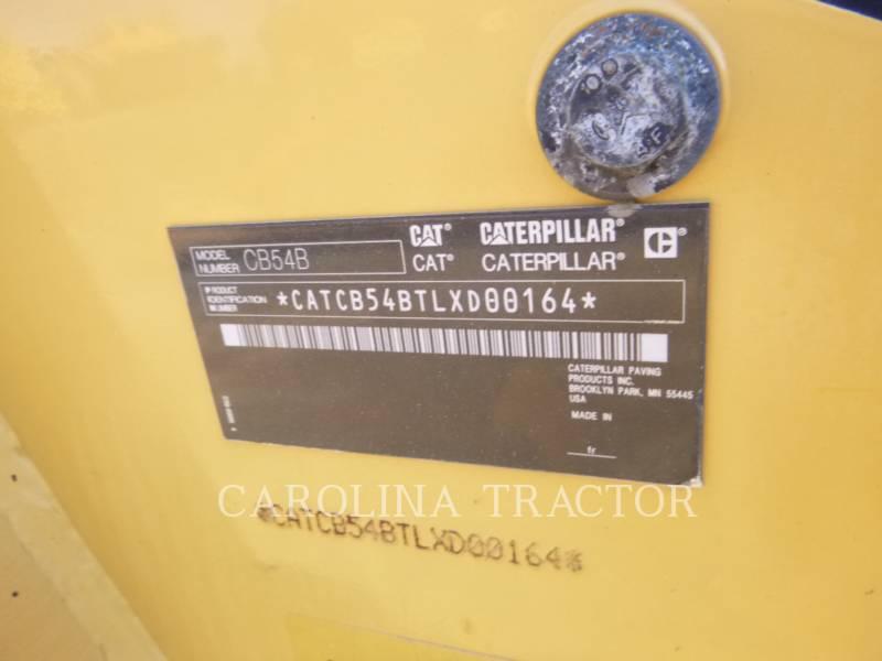 CATERPILLAR TRILLENDE DUBBELE TROMMELASFALTEERMACHINE CB54B equipment  photo 8