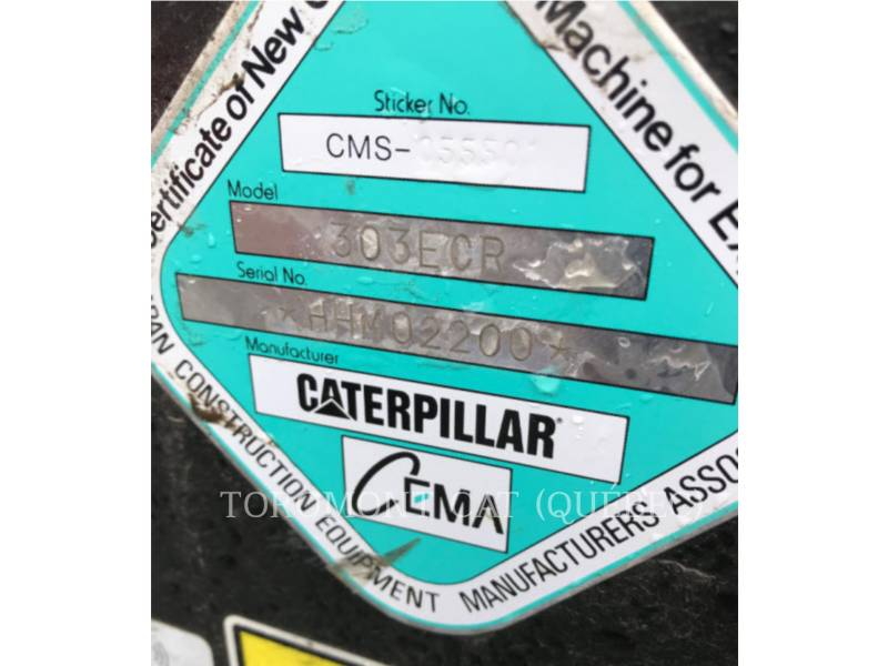 CATERPILLAR KETTEN-HYDRAULIKBAGGER 303 E CR equipment  photo 16
