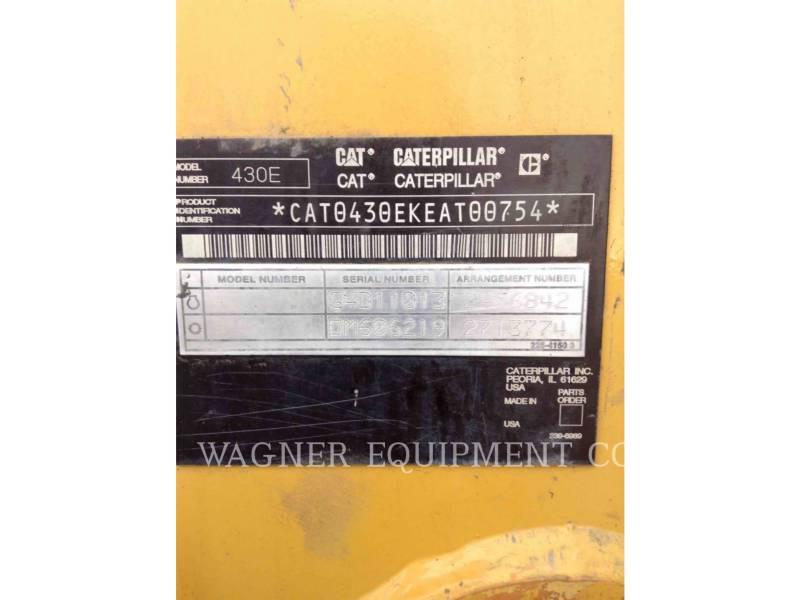 CATERPILLAR BACKHOE LOADERS 430E 4WD equipment  photo 5
