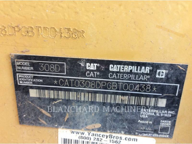 CATERPILLAR TRACK EXCAVATORS 308DCR equipment  photo 13
