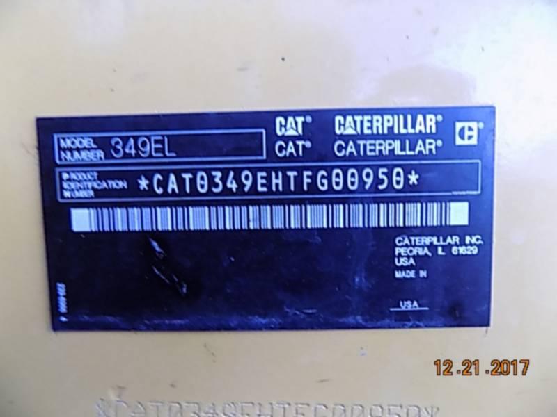 CATERPILLAR PELLES SUR CHAINES 349EL equipment  photo 15
