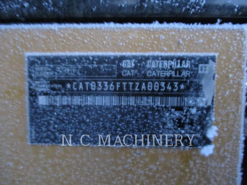 CATERPILLAR TRACK EXCAVATORS 336FL equipment  photo 6