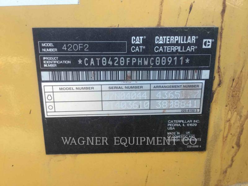 CATERPILLAR CHARGEUSES-PELLETEUSES 420F2 4WDE equipment  photo 5