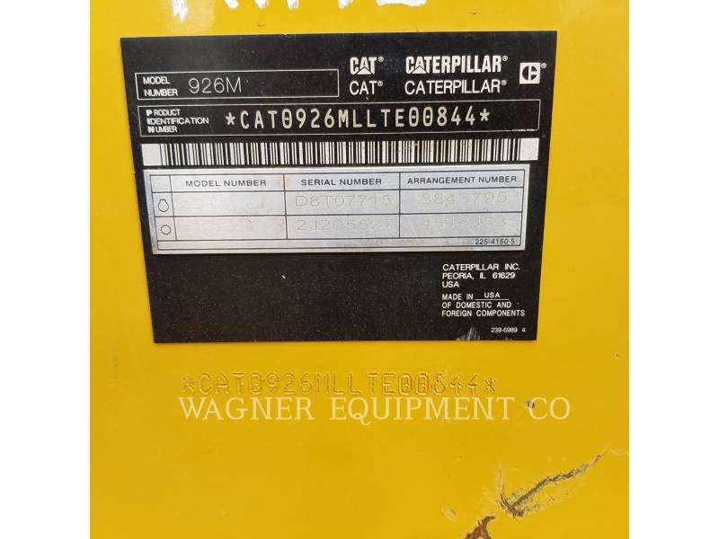CATERPILLAR WHEEL LOADERS/INTEGRATED TOOLCARRIERS 926M FCHL equipment  photo 5
