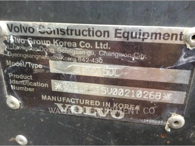 VOLVO CONSTRUCTION EQUIPMENT KOPARKI GĄSIENICOWE ECR 235DL equipment  photo 22