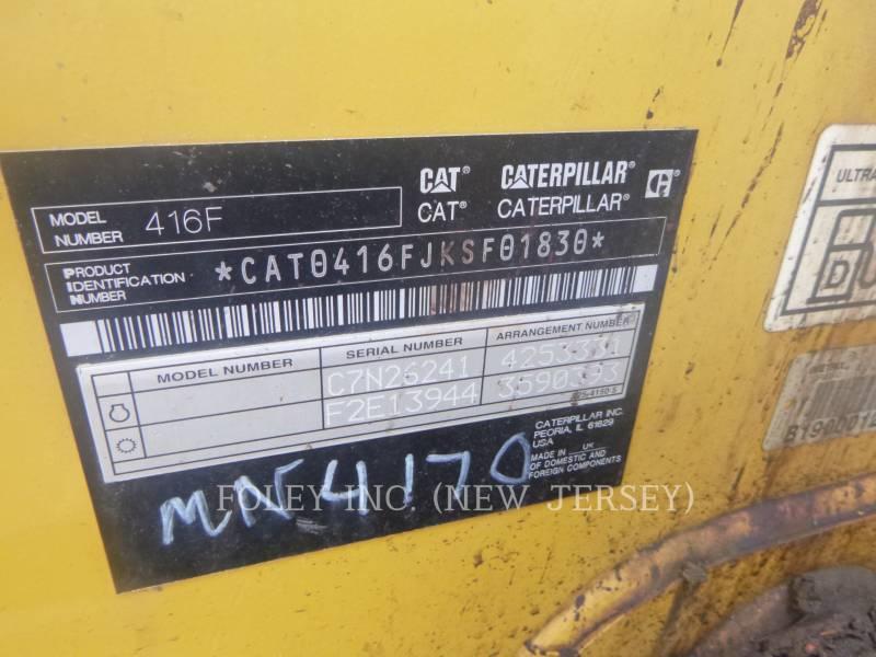 CATERPILLAR BACKHOE LOADERS 416FST equipment  photo 5