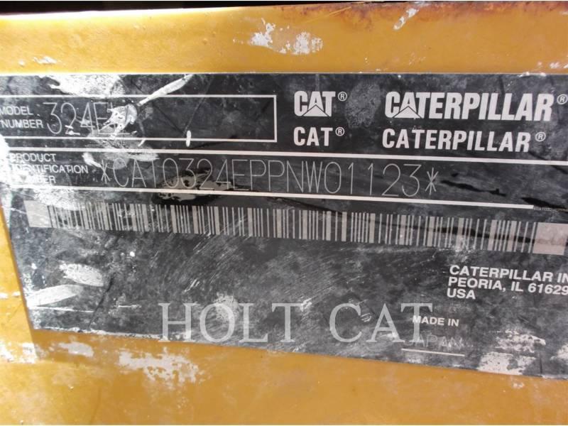 CATERPILLAR PELLES SUR CHAINES 324EL equipment  photo 7