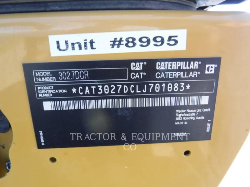 CATERPILLAR TRACK EXCAVATORS 302.7D CR equipment  photo 2