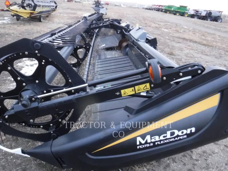 MACDON WT - コンバイン・ヘッダ FD75-S equipment  photo 1