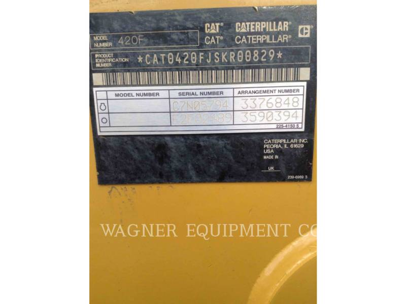 CATERPILLAR RETROEXCAVADORAS CARGADORAS 420F 4WDE equipment  photo 5
