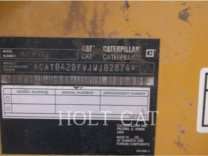 CATERPILLAR RETROEXCAVADORAS CARGADORAS 420FIT equipment  photo 5
