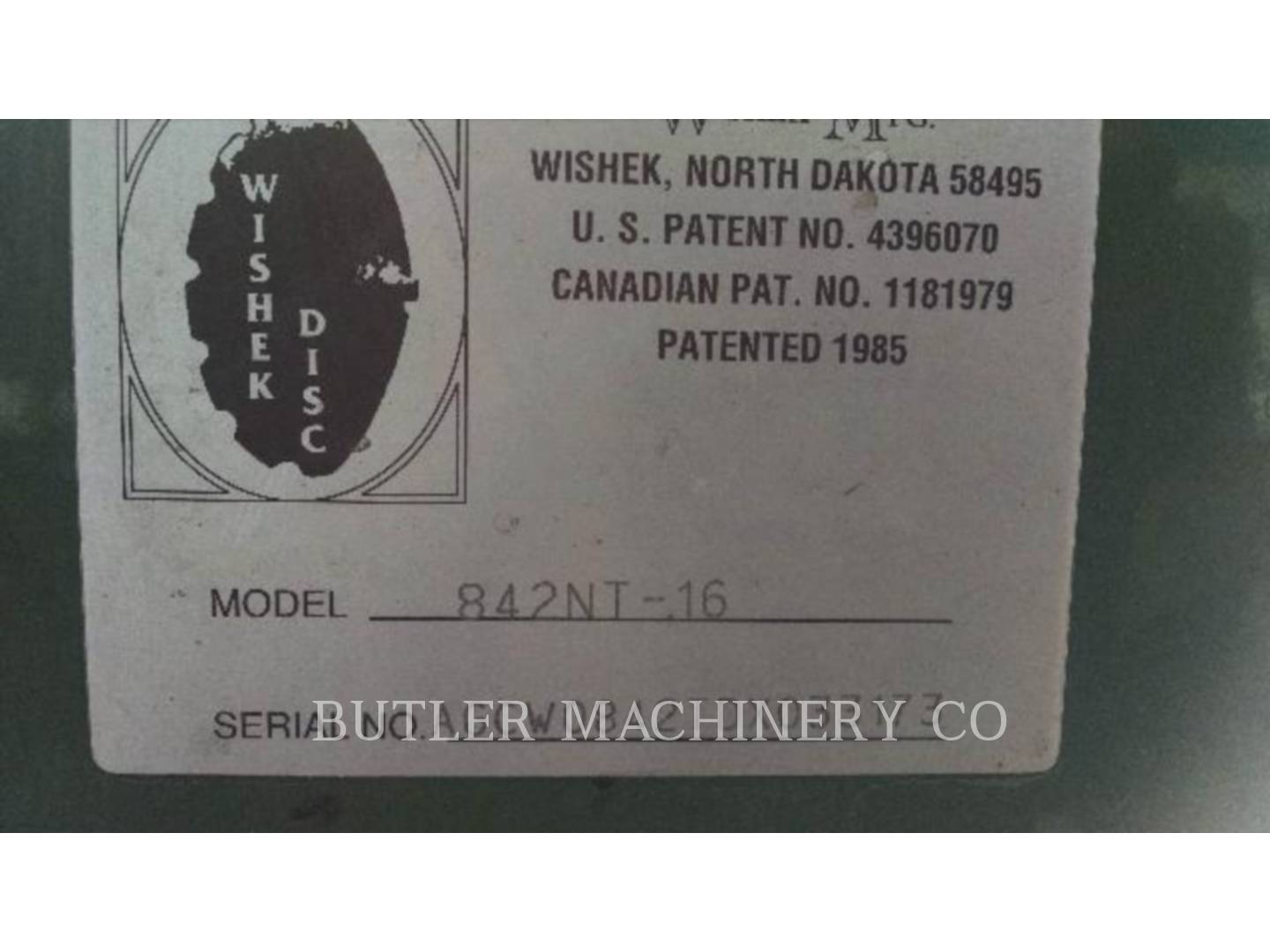 Detail photo of 2013 WISHEK 842NT-16 from Construction Equipment Guide