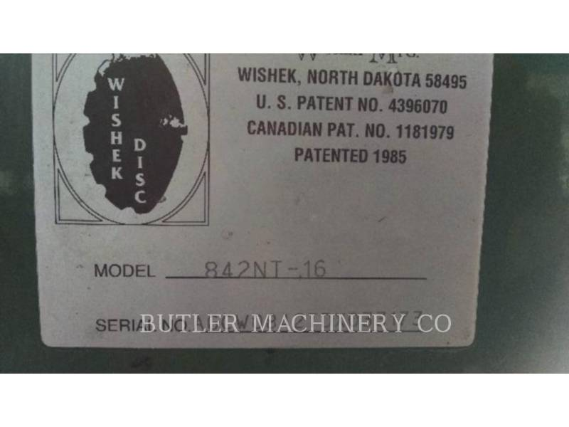 WISHEK STEEL MFG INC EQUIPO DE LABRANZA AGRÍCOLA 842NT-16 equipment  photo 1