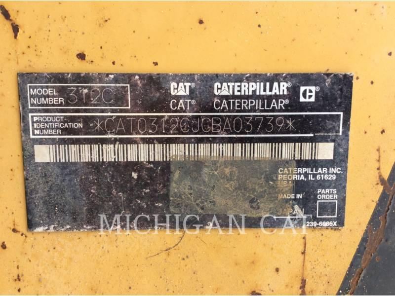 CATERPILLAR TRACK EXCAVATORS 312CL Q equipment  photo 9