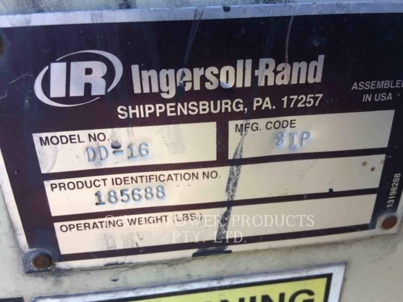 INGERSOLL-RAND VIBRATORY DOUBLE DRUM ASPHALT DD16 equipment  photo 2