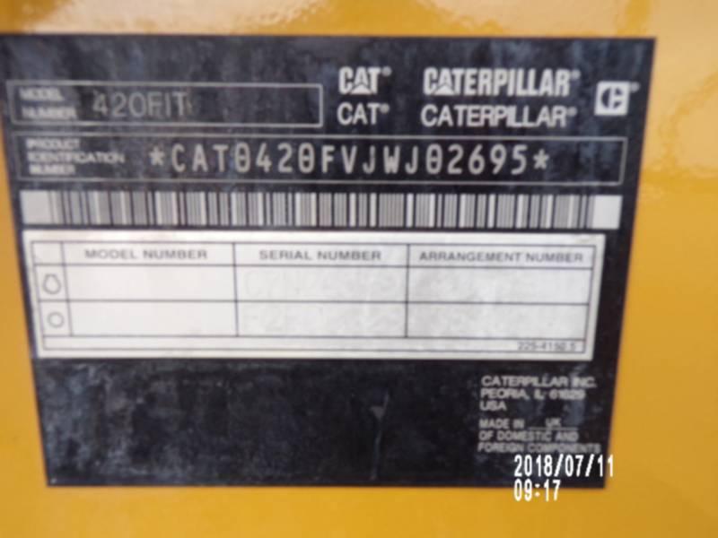 CATERPILLAR BACKHOE LOADERS 420FIT equipment  photo 17