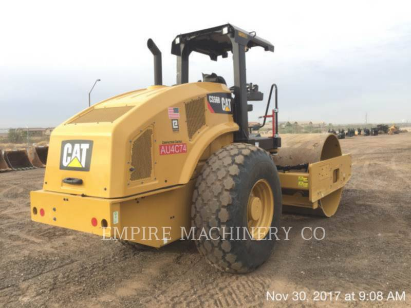 CATERPILLAR VIBRATORY SINGLE DRUM PAD CS56B equipment  photo 2