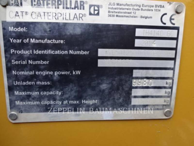 CATERPILLAR TELEHANDLER TH414CGC equipment  photo 7