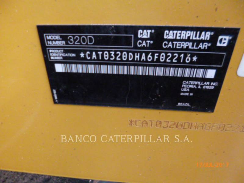 CATERPILLAR TRACK EXCAVATORS 320D equipment  photo 12