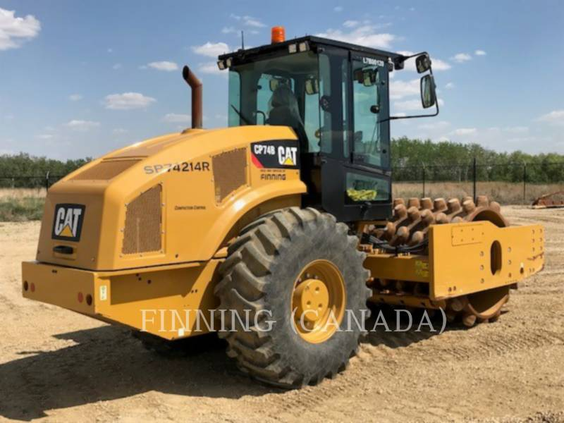 CATERPILLAR COMPACTEUR VIBRANT, MONOCYLINDRE À PIEDS DAMEURS CP74B equipment  photo 3